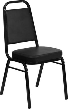 HERCULES Series Trapezoidal Back Stacking Banquet Chair with Black Vinyl and…