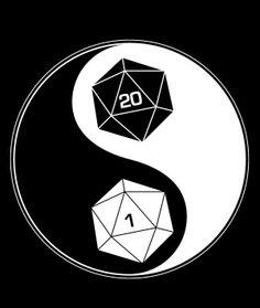 The Way of the Dice (shirt)  D20 yin yang