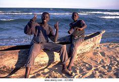 Local boys on the beach near Kande Lake Malawi Malawi