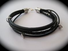 Black Boho Allsorts Leather Suede  Cord by SimplyByRebecca, £13.00