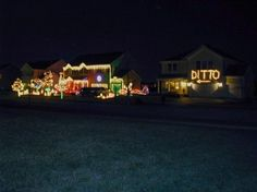 What you should do if you have the neighbor that goes all out for Christmas decorations that you can't top! People will be talking about your house just as much! Funny Christmas Decorations, Funny Christmas Pictures, Christmas Lights, Funny Pictures, Funny Pics, Hilarious Photos, That's Hilarious, Outdoor Decorations, Christmas Neighbor