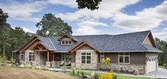 Jaw-Dropping Mix of Ranch & Craftsman Style Home (HQ Plan & Pictures)   Metal Building Homes  http://www.metal-building-homes.com/jaw-dropping-mix-of-ranch-craftsman-style-home-hq-plan-pictures/