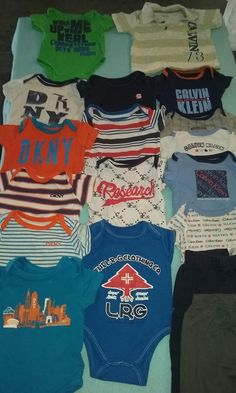 Has your baby outgrown all those cute little outfits you got at the baby shower? Sell them to someone who needs them in The Online Thrift Shop (Buy/Sell) 6 Months, Thrifting, Onesies, Baby Boy, Baby Shower, Boys, Cute, Stuff To Buy, Outfits