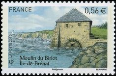 2010: Moulin du Birlot Île-de-Bréat (צרפת) (Windmills) Yt:FR 4490,Mi:FR 4944,Sn:FR 3866f