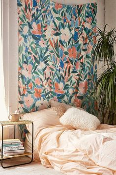 Nonchalant Coral Tapestry