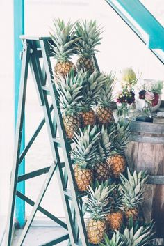 Pineapple wedding backdrop