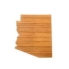 Arizona State Shaped Cutting Board In Bamboo Hostess by AHeirloom