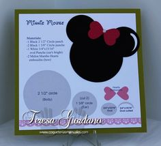 Minnie Mouse Template - Punch Art