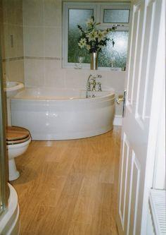Excellent Modern Bathroom Ideas Designer: Archaic Small Bathroom Design Ideas Stylish Ideas With Wooden Floor And White Door Feats Shopisticated Bathtub Also Toilet And Flower On Vase Inspirations ~ ellabb.com Bathroom Design Inspiration