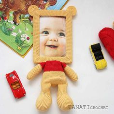 This is a crochet pattern (PDF file) NOT a finished Photo Frame you see on the photos! This pattern is available in: English SKILL LEVEL: INTERMEDIATE Photo Frame Winnie the Pooh – size 34 cm (13 in), if using fingering weight yarn (4 ply, 14 wpi, 1 : Super Fine). Material: • yarn • hook 2.0 mm • glue gun • soft stuffing • scissors • Photo Frame 10x15 (frame width of 1.5 cm, thickness 1 cm) • needle for sewing Pattern exists only in electronic form. The PDF file contains 10 pages: a textu...