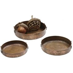 Classic Simple Round Copper Tray | Touch of Europe