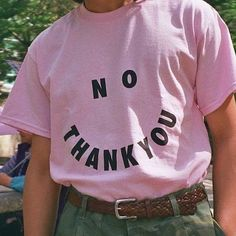 No Thank You Letters Print Women Cotton Casual Funny T-Shirt For Lady Top Tee Hipster Mode Chic, Mode Style, Streetwear, Trend Fashion, Fashion Top, Fashion 2018, Cheap Fashion, Fashion Brands, Looks Style