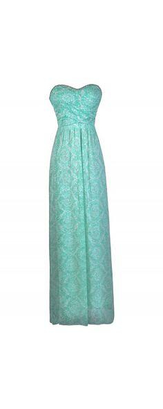 Lily Boutique Oceans Apart Printed Maxi Dress in Seafoam, $64 Seafoam Green Maxi Dress, Maxi Bridesmaid Dress, Mint Green Maxi Dress www.lilyboutique.com