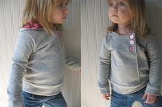 Urban Unisex Hoodie pattern and tutorial 6M - 5T PDF pattern DIY boy girl. $6.00, via Etsy.