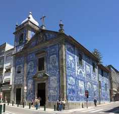 Azulejos, as ceramic tiles are called in Portugal, are not a portuguese invention. The use of glazed tiles begin in Egypt, but Portugal adopted them so dearly that today this… Spain And Portugal, Portugal Travel, Portugal Trip, Porto City, Voyage Europe, Portuguese Tiles, Place Of Worship, Kirchen, Prague