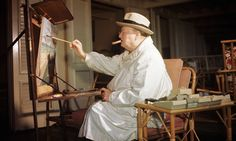 Winston Churchill is pictured at his easel in Juan les Pins in the twenties Winston Churchill, Churchill Quotes, Man In Love, The Man, Churchill Paintings, Juan Les Pins, Art Of Manliness, Hobbies For Men, Man Room