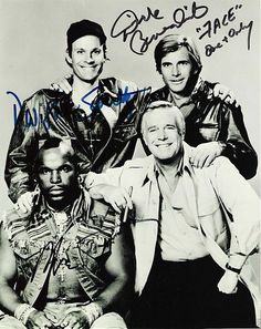 THE A TEAM. WOW... This brings back memories... Face was my favorite. hee hee