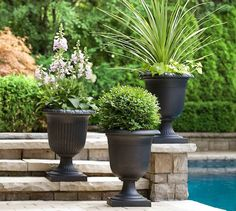 Container gardening   Tierra Verde Recycled Rubber Planters   Ontario Rubber Material, Recycled Rubber, Timeless Design, Container Gardening, Ontario, Planter Pots, Recycling, Exterior, Outdoor Rooms