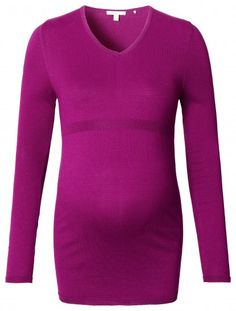 Дамски пуловер за бременни ESPRIT MATERNITY - лилав