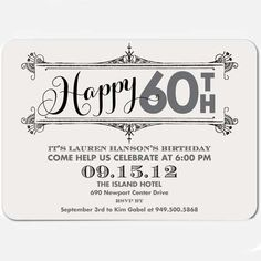 Swirling Shindig - Adult Birthday Party Invitations in Light Gray or Basil Create Birthday Card, Surprise Birthday Invitations, Personalized Birthday Invitations, Unique Invitations, Invitation Templates, Invitation Ideas, 50th Birthday Party Ideas For Men, 70th Birthday Parties, Adult Birthday Party