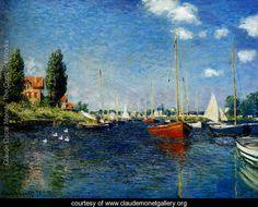 Argenteuil (Red Boats) - Claude Oscar Monet - www.claudemonetgallery.org