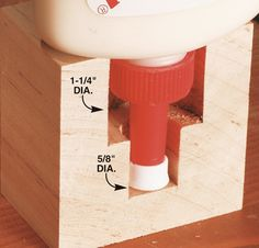 Eliminate Clogged Caps - Woodworking Shop - Alter to fit Elmer's for school.ooohhh Daddy I have a job for you! Woodworking Gadgets, Woodworking Clamps, Woodworking Workshop, Woodworking Projects Plans, Woodworking Shop, Diy Crown Molding, Woodshop Tools, Got Wood, Shop Organization