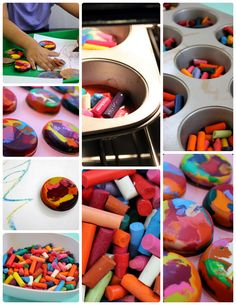 rainbow crayons as give aways