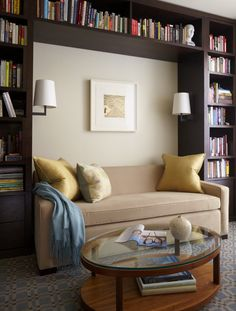 Reading Nook!  Must add this to the bookcase design..I love this, I have always wanted to have this, even designed one for my house in Arizona, but never got to build it.....