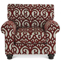 GALLERY FURNITURE CUSTOM CONTEMPORARY RED AND WHITE ACCENT CHAIR - Chairs - Living Room Gallery Furniture