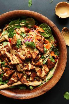 Giant vegan salad. <3