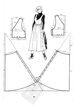 18 Ideas for sewing patterns winter Sewing Aprons, Dress Sewing Patterns, Sewing Patterns Free, Clothing Patterns, Sewing Diy, Fashion Sewing, Diy Fashion, Sewing Clothes Women, Creation Couture
