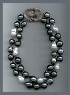 Use regular shaped pearls but color combination style is good