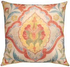He was the one who spotted this pillow under a stack of others. The fabric looked vintage. Faded and comfortable like her favorite pair of jeans. And it would look perfect propped in the corner of her turquoise chaise. Of course he had to get it for her. The blue chaise was starting to grow on him.     #HomeDecorators