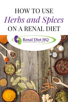 Want to make your renal diet meals more delicious without using added salt? Here's how to use herbs and spices on a renal diet or low sodium diet. Check out which low salt herbs and spices you can use to add flavor for your kidney disease diet here! Low Sodium Diet, Low Sodium Recipes, Diet Recipes, Diet Meals, Kidney Friendly Diet, Kidney Disease Diet, Dehydrated Onions, Healthy Kidneys, Counting Carbs