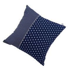Kissen-blau-mit-weissen-Sternen-Streifen-40x40-cm