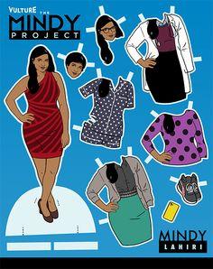 Print Out Vulture's Mindy Project Paper Dolls -- Vulture