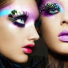 exotic eye make-up.