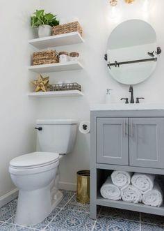 Small Bathroom Storage, Bathroom Design Small, Diy Bathroom Decor, Bathroom Interior Design, Bathroom Ideas, Bathroom Organization, Bath Ideas, Bath Decor, Shower Ideas