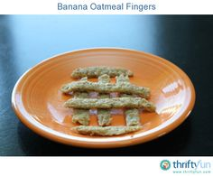 Banana Oatmeal Fingers are a great breakfast or snack for babies and toddlers. I make these for my 10 month old son and he loves them.