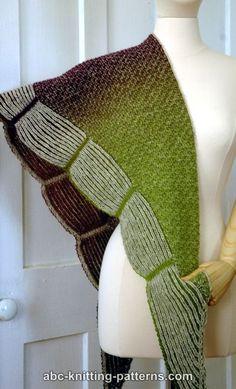 ABC Knitting Patterns - La Riviera Shawl with Brioche Border