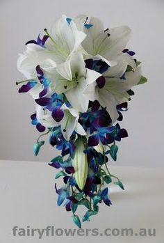 blue orchid wedding flowers | Trail Bouquets - Fairy Flowers - The Wedding Flowers Specilaist