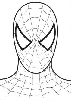 Spiderman Face Coloring Sheet Coloring Pages