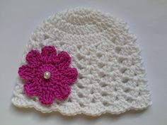 Crochet Baby Hat, Summer, 100% Cotton £8.50