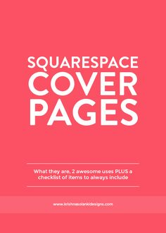 Krishna Solanki Designs   Squarespace Cover Pages   What They Are, 2  Awesome Uses,
