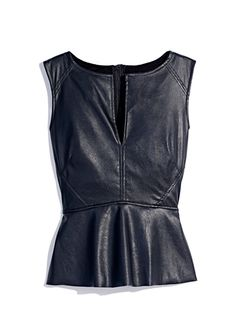 Show off your sassy side with a leather peplum top
