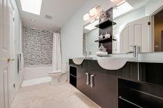 Double Vanity, Sweet Home, Spaces, Bathroom, Washroom, House Beautiful, Bath Room, Bathrooms, Downstairs Bathroom