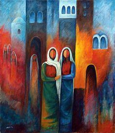 Silence Arabic Calligraphy Art, Arabic Art, Arabesque, Palestine Art, Cubist Art, Oriental, Mexican Artists, Chicano Art, Historical Art