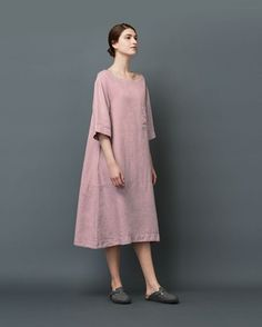 Women's Linen Lounge Dress