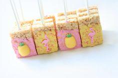 Luau Birthday, Flamingo Birthday, Flamingo Party, Birthday Ideas, Luau Desserts, Pineapple Cookies, Pineapple Rice, Luau Cookies, Luau Theme Party