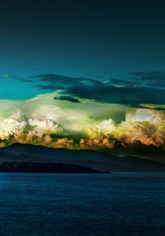 amazing cloud formations and colours